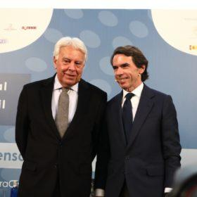 Felipe González Márquez y José María Aznar
